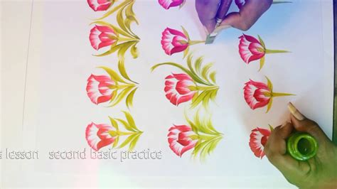 painting designs free hand painting basic saree flower design composition
