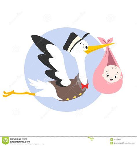clipart nascita bambino illustrazione bambino della cicogna illustrazione