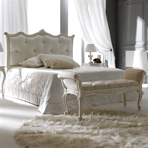curved bed curved white designer italian silk button upholstered bed