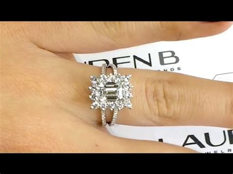 1 70 ct emerald cut engagement ring in a quot princess