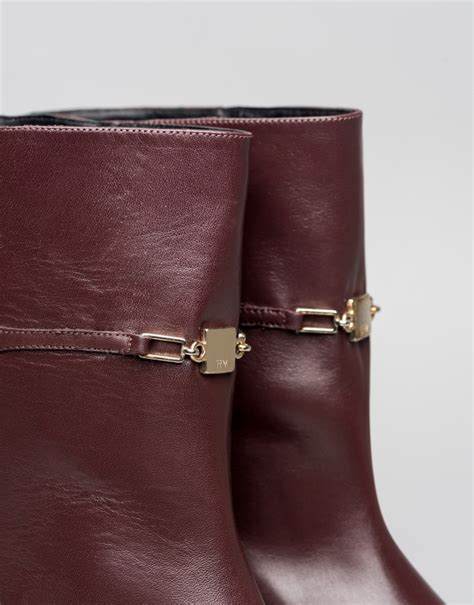 brown leather gaugin flat ankle boots roberto verino