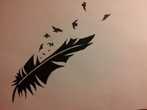 tattoo feather design by violetnitrogen on deviantart