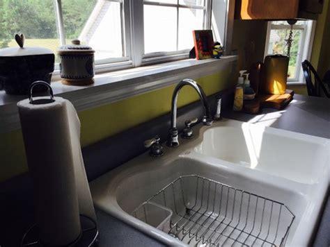 drop in sink and granite countertops