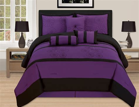 dark comforter sets total fab deep dark purple comforters bedding sets