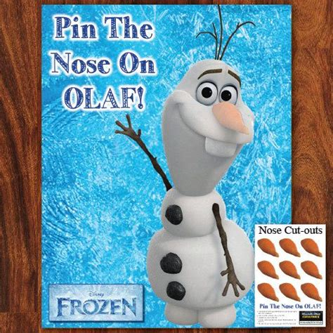 printable olaf pin the nose fozen pin the nose on olaf printable do it by