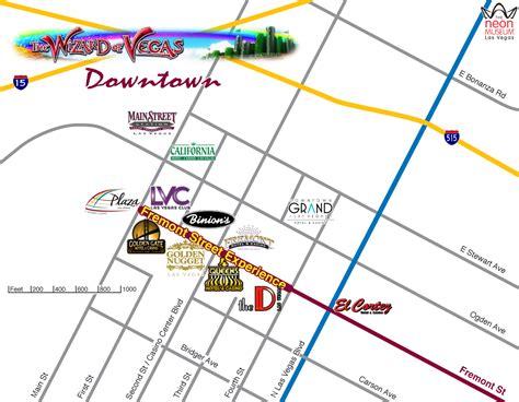 map of las vegas downtown casinos las vegas maps wizard of vegas