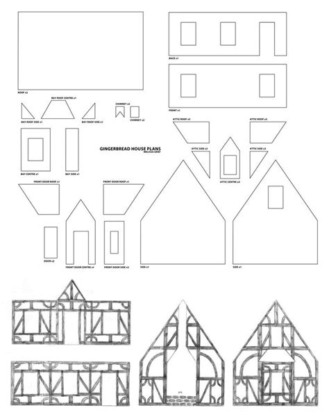 Gingerbread House Plans by Gingerbread House Plans Tudor Style Gingerbread House