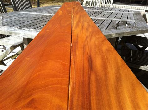 genuine mahogany  cabot clear natural stain green