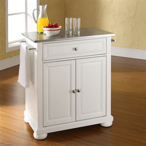 shop kitchen islands shop crosley furniture white craftsman kitchen island at