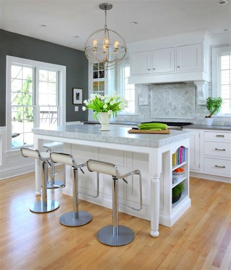 calcutta marble kitchen island contemporary kitchen benjamin chelsea gray normandy