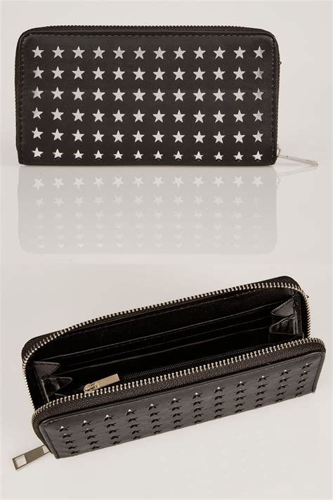 cut to size protector black silver star cut out purse