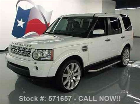 land rover lr4 interior sunroof land rover lr4 hse 4x4 sunroof nav 22 wheels 2011
