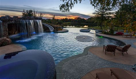Waterfall Backyard Design Overland Park Natural Essentials Tributary Pools Amp Spas