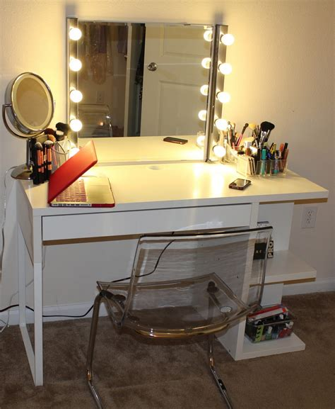 vanity desk with mirror ikea vanity desk with mirror and lights ikea home furniture