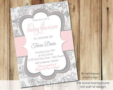 Pink And Grey Baby Shower Invitations by Pink And Gray Baby Shower Invitation Baby Grey By Starwedd