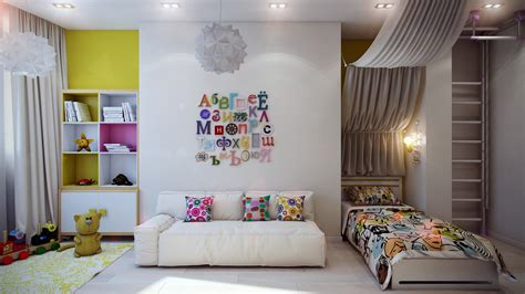 child room casting color over kids rooms