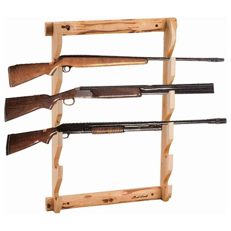 Wall Rack creek log 5 gun wall rack 143363 gun cabinets