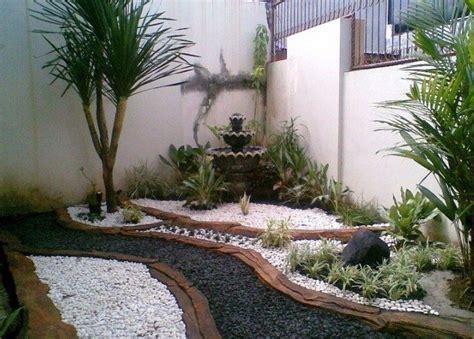 contoh taman minimalis  belakang rumah sederhana taman