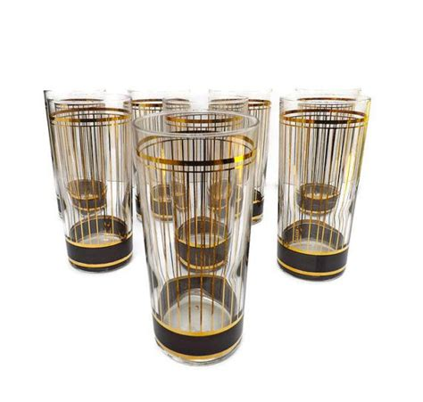 classic barware vintage culver drinking glasses mod by vintagethatsmintage