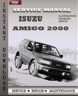 service manual 2000 isuzu amigo repair manual free haynes isuzu rodeo amigo 89 02 repair