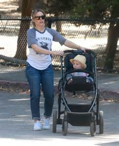 Kristen bell out at a park with her kid in los feliz celebzz