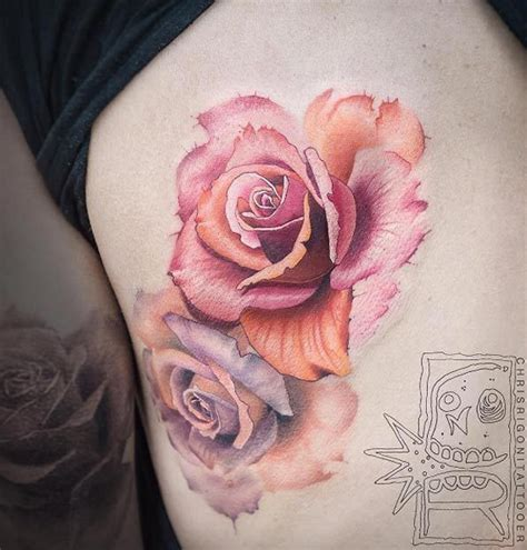 water color rose tattoos best 25 watercolor tattoos ideas on