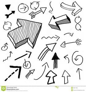 free doodle arrow vector doodle arrows stock illustration image of crayon