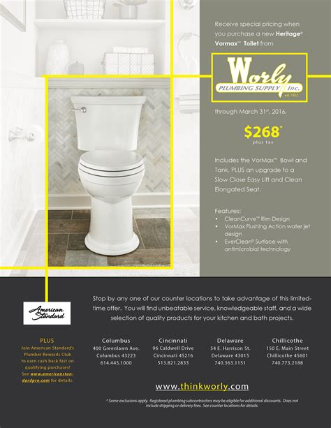 Worly Plumbing by New Year New Throne Heritage Vormax Toilets On Sale
