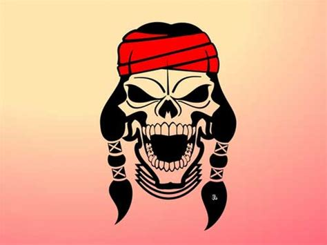cartoon skull tattoos cliparts co