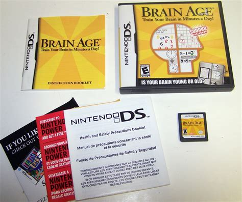 Cartridge Nintendo Ds Original Brain Brain Age Your Brain In Minutes A Day Nintendo Ds