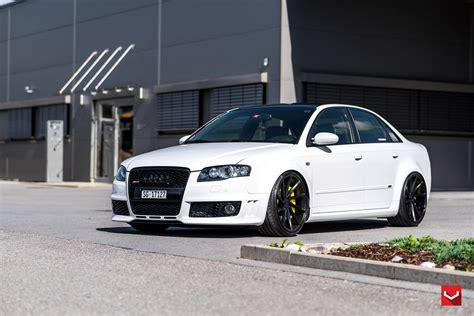 white audi sedan vossen wheels audi rs4 cars sedan modified white wallpaper