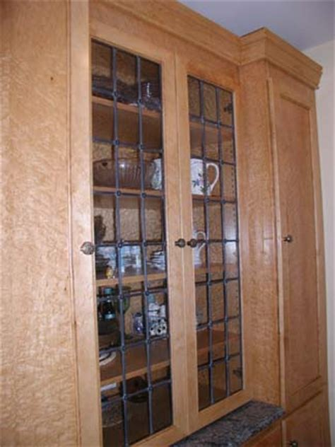 Leaded Cabinet Doors with Rosettes