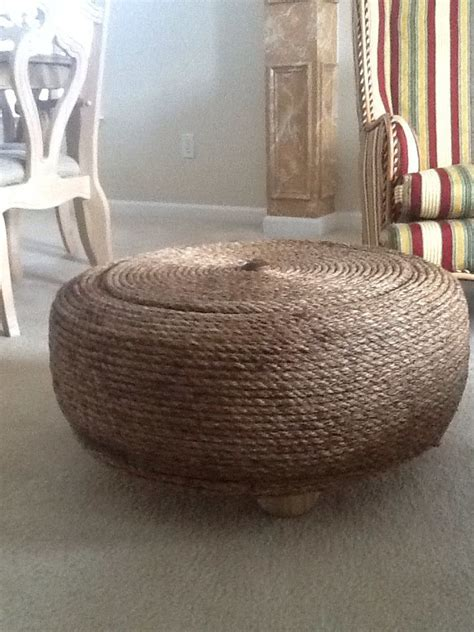 tire rope ottoman i upcycled a 26 quot used tire into an ottoman hometalk