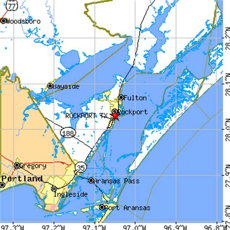 rockport texas map rockport texas tx population data races housing economy
