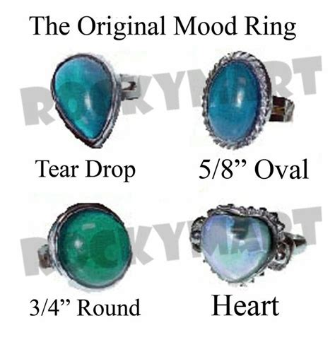 mood ring chart nostalgia pinterest mood rings the original mood ring adjustable with mood chart jewelry
