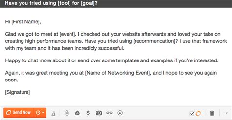 12 Networking Follow Up Emails Breathr Medium Meeting Follow Up Email Template