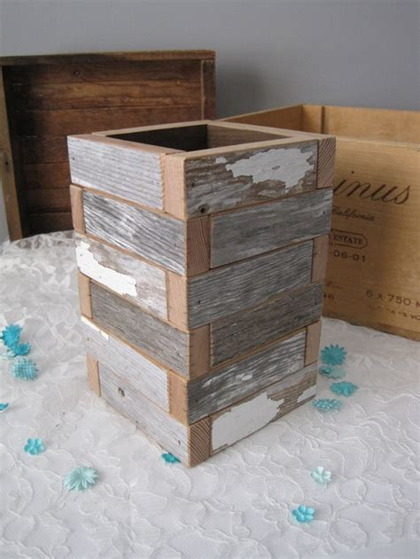 Reclaimed Wood Planter Box by C H I P P Y Wood Box Reclaimed Wood Planter Box 36 00