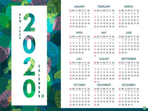 year  calendar design  md shopon hossen  dribbble