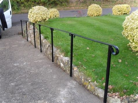 Outdoor Handrails For Steps Metal fit metal handrail to outdoor steps landscape gardening in caterham surrey mybuilder