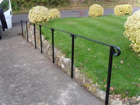 Steel Handrails For Outdoor Steps fit metal handrail to outdoor steps landscape gardening