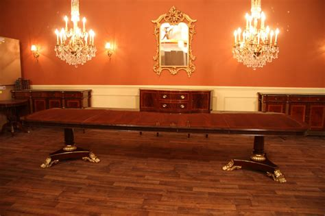 Large Dining Room Tables by Large And Wide High End American Made Mahogany