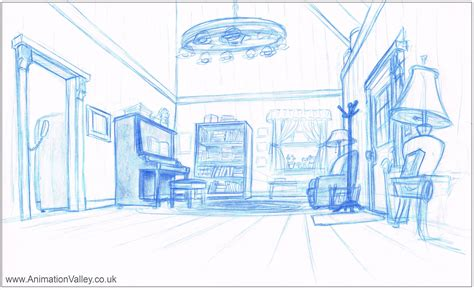 layout in animation hand drawn 101 dalmatians production layout drawing