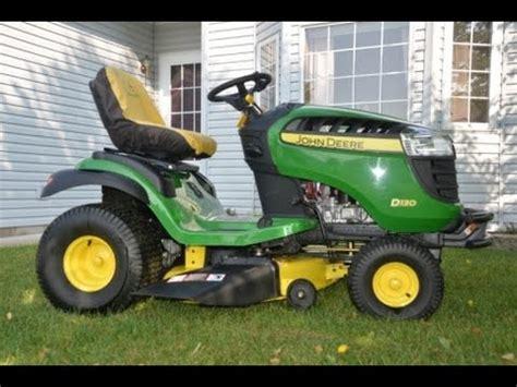 john deere lawn tractor.......d130 youtube