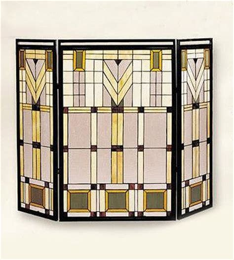 stained glass wright fire screen stained glass pinterest