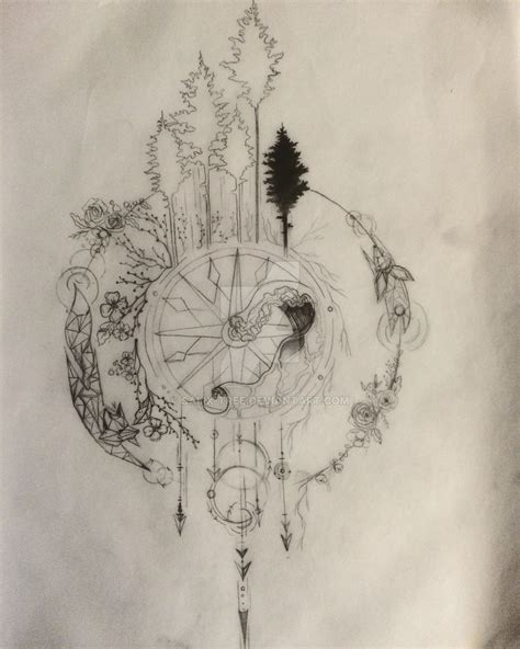 compass tattoo art compass tattoo design series part 1 wip by salix tree