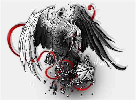 tattoo raven designs wings designs