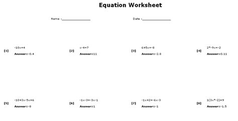 Multi Step Equations Worksheet Answers by 2 Step Equations Worksheet New Calendar Template Site