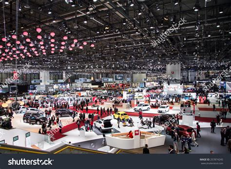 Overall Jeneva geneva mar 3 general view at the 85th international motor show in geneva switzerland on march