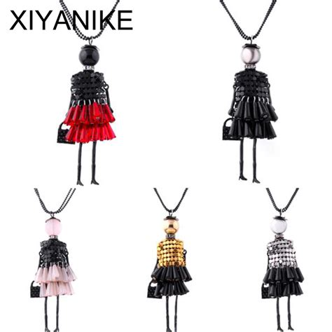 fashion doll necklace 2016 fashion doll pendant necklace jewelry lovely dress