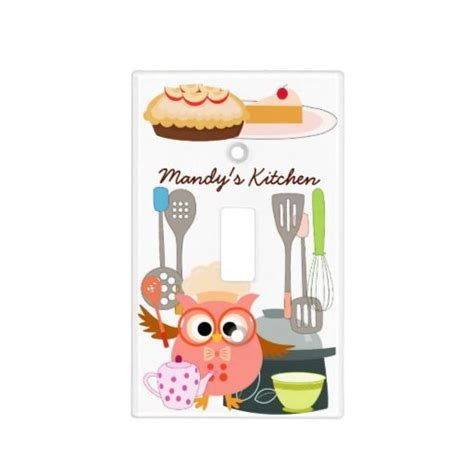 kitchen light switch covers owl chef in kitchen light switch cover